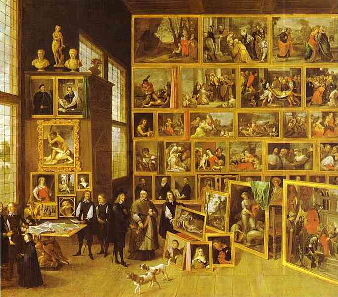 Oil painting:The Art Collection of Archduke Leopold-Wilhelm in Brussels. 1651