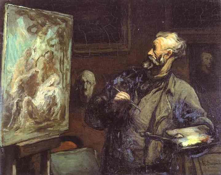 Oil painting:The Artist. c. 1868