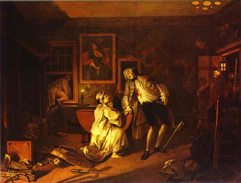 Oil painting:The Death of the Earl. 1743