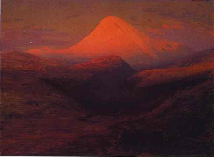 Oil painting:The Elbrus. 1898