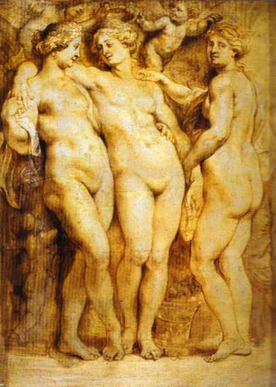 Oil painting:The Three Graces. 1628