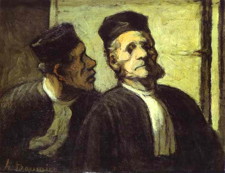 Oil painting:Two Lawyers. c. 1855
