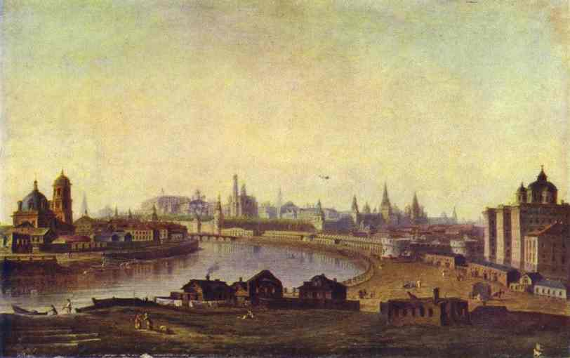 Oil painting:View of Moscow. 1810