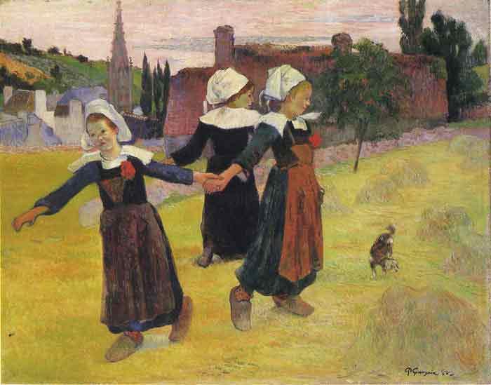Oil painting for sale:Dancing Bretani Girls, 1888