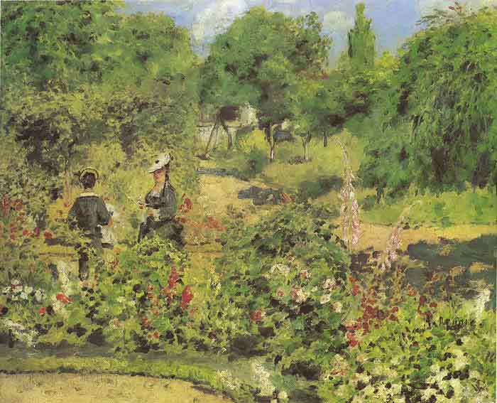 Oil painting for sale:Garden at Fontenay, 1874