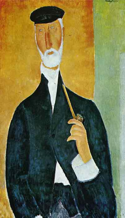 Oil painting for sale:Man with Pipe, 1918