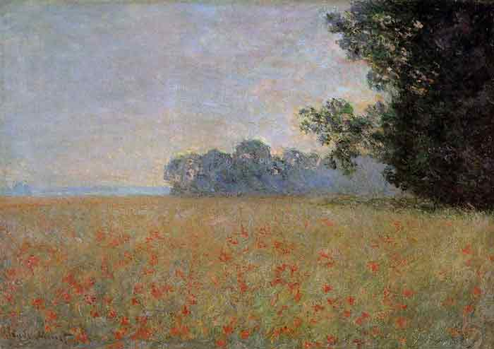 Oil painting for sale:Oat and Poppy Field , 1890