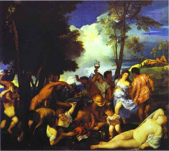 Bacchanal of the Andrians. 1523