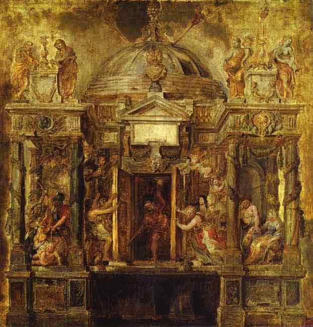 Temple of Janus. Study. 1635