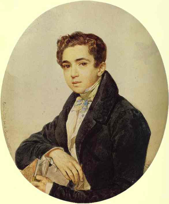 Oil painting:Portrait of the Artist Prince G. G. Gagarin. 1829