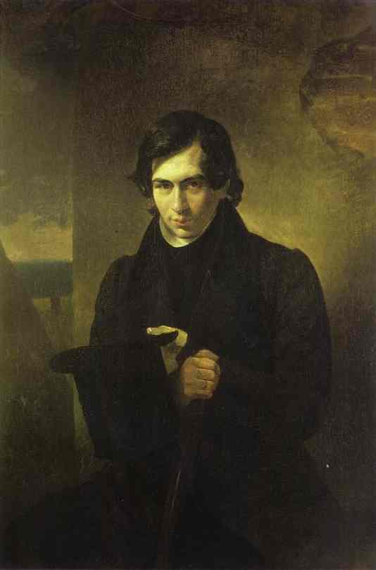 Oil painting:Portrait of the Poet and Playwright Nestor Kukolnic. 1836