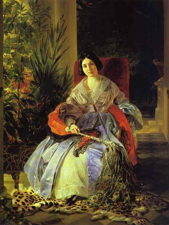 Oil painting:Portrait of Princess Ye. P. Saltykova. 1841