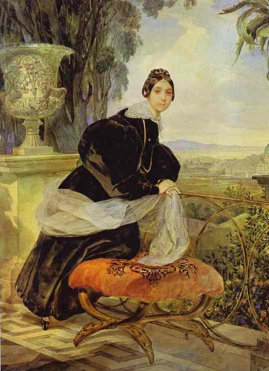 Oil painting:Portrait of Princess Ye. P. Saltykova. 1833-1835