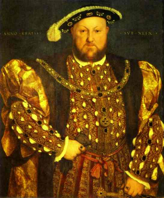 Oil painting:Portrait of Henry VIII. 1540