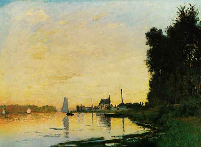 Oil painting for sale:Argenteuil, Late Afternoon , 1872