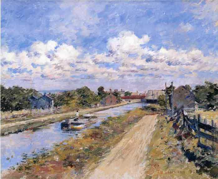 Oil painting for sale:On the Canal (of Port Ben Series), 1893