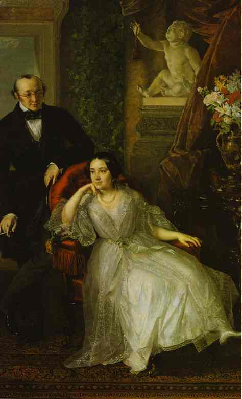 Oil painting:Portrait of N. I. and N. M. Behr. 1850