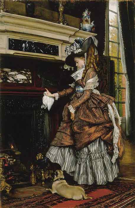 Oil painting for sale:La chemine, c.1869