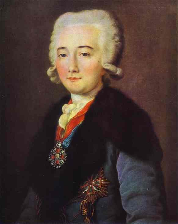 Oil painting:Portrait of Alexander Dmitryev-Mamonov. 1780