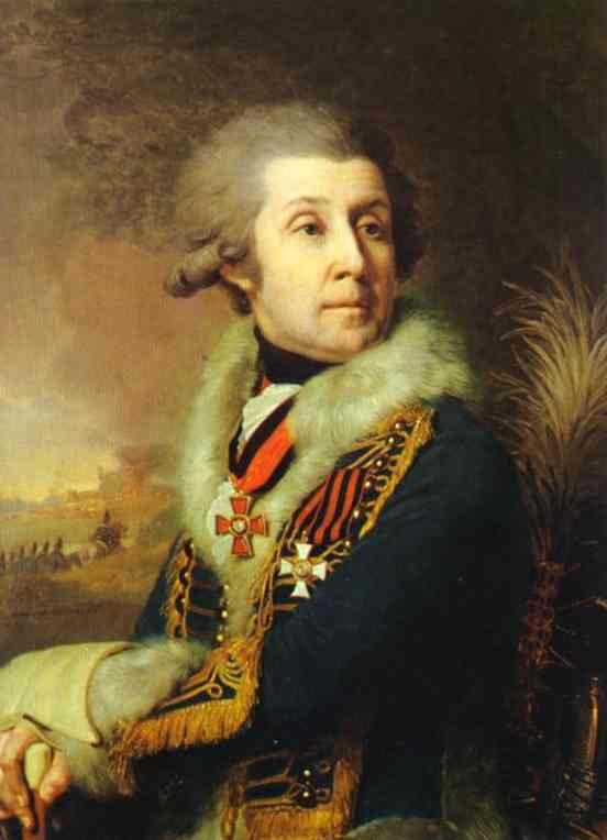 Oil painting:Portrait of F. A. Borovsky. 1799