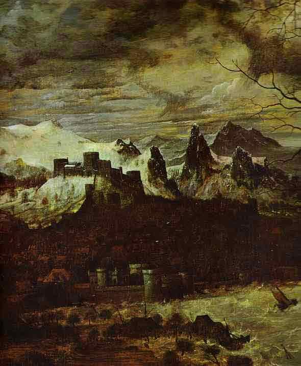 The Gloomy Day (February). Detail. 1565