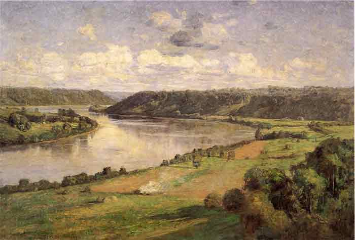 Oil painting for sale:The Ohio river from the College Campus, Honover, 1892