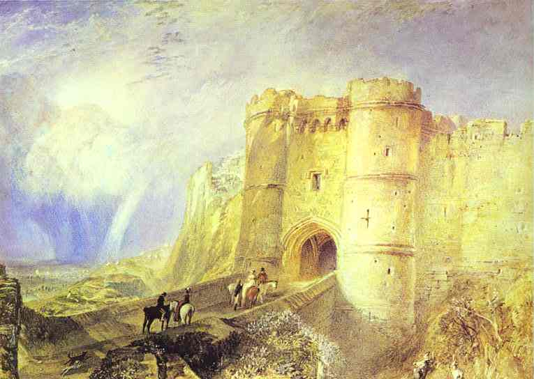 Oil painting:Carisbrook Castle, Isle of Wight. c.1828