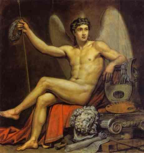 Oil painting:Genius of Art. 1817