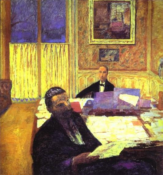 Oil painting:Joseph Bernheim-Jeune and Gaston Bernheim de Villers. 1920