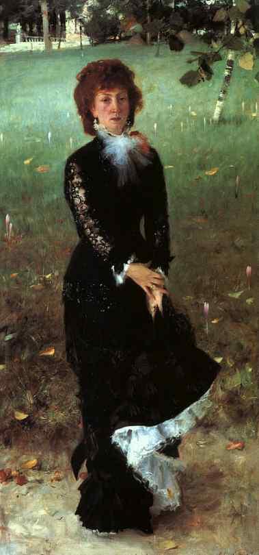 Oil painting:M-me Edouard Pailleron. 1879