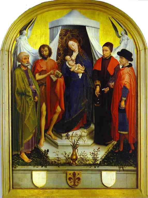 Oil painting:Medici Madonna. c.1460