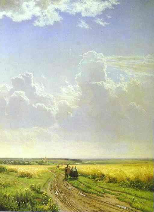 Oil painting:Noon in the Neighbourhood of Moscow. 1869