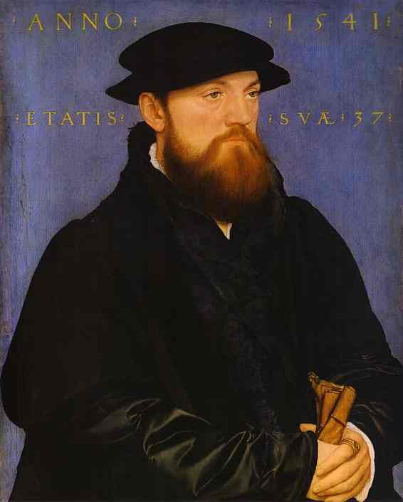 Oil painting:Portrait of De Vos van Steenwijk. 1541