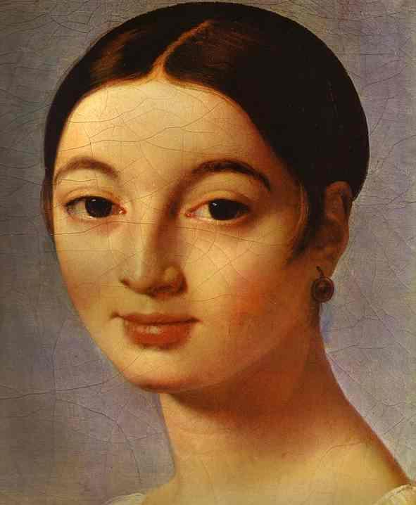 Oil painting:Portrait of Mademoiselle Rivi