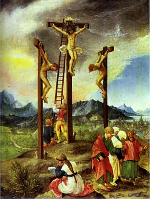 Oil painting:The Crucifixion. c.1526