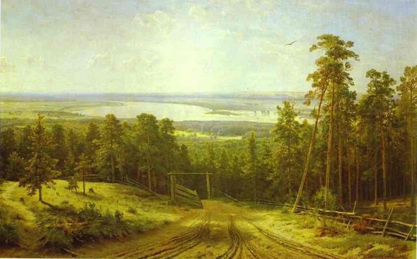 Oil painting:The Kama Near Yelabuga. 1895