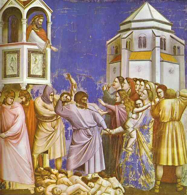 Oil painting:The Massacre of the Innocents. 1304
