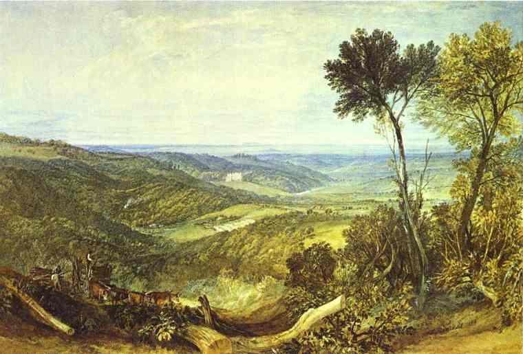 Oil painting:The Vale of Ashburnham. 1816