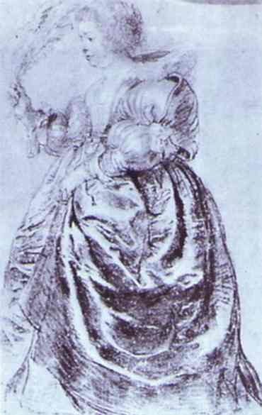 Oil painting:Young Woman with an Ostrich Plum. 1632