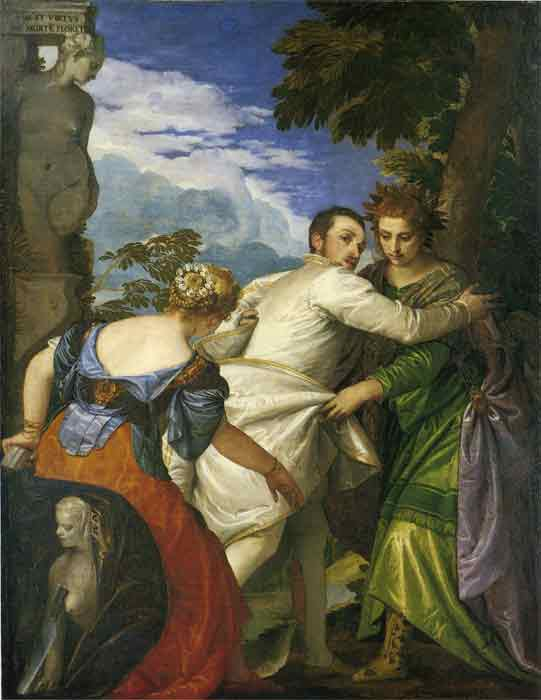 Oil painting for sale:Allegory of Virtue and Vice, 1580