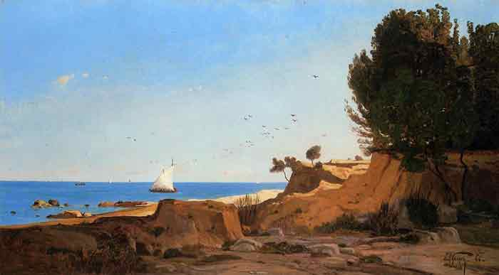 Oil painting for sale:Around the Cap-Couronne near Marseille, 1866