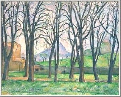 Oil painting for sale:Chestnut Trees jas de Buffan