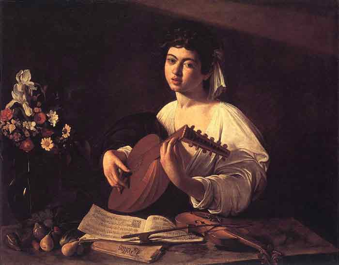 Oil painting for sale:Lute Player, c.1596