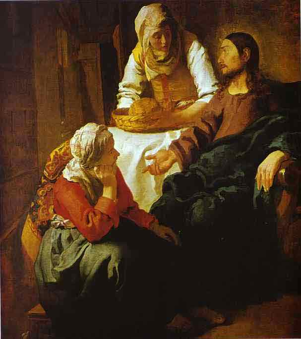 Christ in the House of Mary and Martha. c.1654-1655