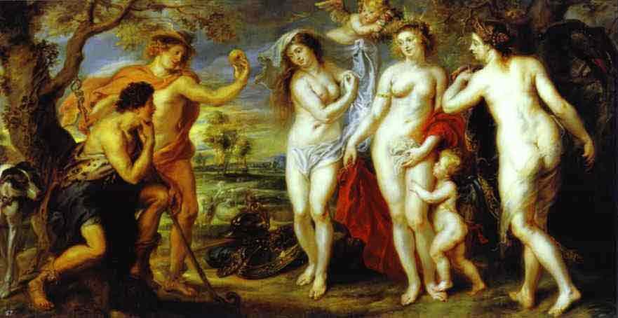 The Judgment of Paris. c.1639