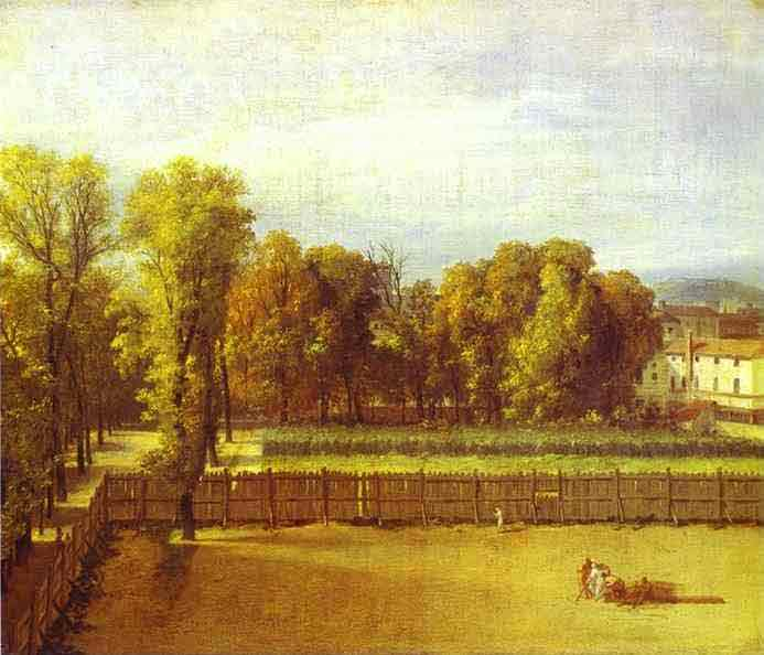 View of the Garden of the Luxembourg Palace. 1794