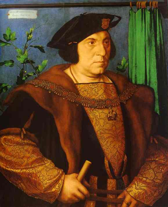 Oil painting:Portrait of Sir Henry Guildford. 1527