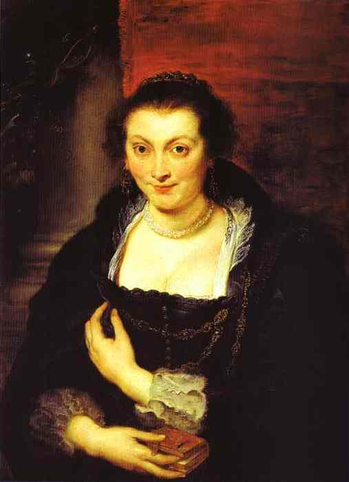 Oil painting:Portrait of Isabella Brant. 1625
