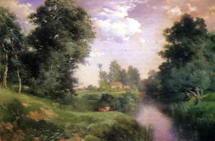 Oil painting for sale:A Long Island River, 1908