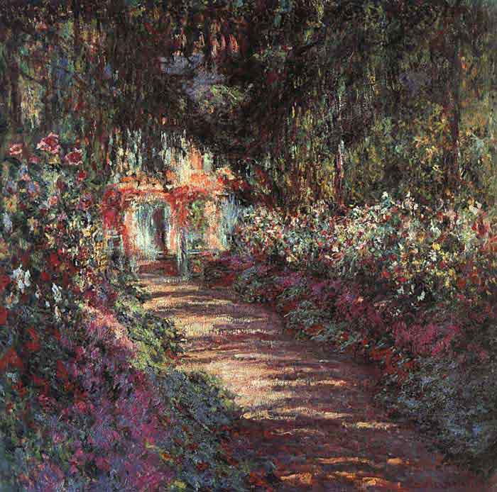 Oil painting for sale:The garden in flower, 1900